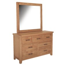 Hampshire 7 Drawer Dressing Chest with Mirror