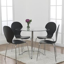 Soho 5 Piece Glass Dining Set