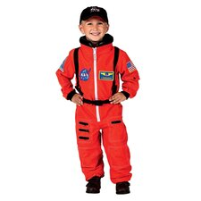 <strong>Aeromax</strong> Jr. Astronaut Suit with Embroidered Cap Costume in Orange