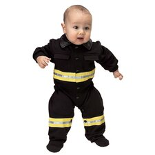 Jr. Fire Fighter Suit for 6-12 Months Costume in Black