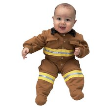 Jr. Fire Fighter Suit for 6-12 Months Costume in Tan
