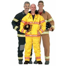 Adult Fire Fighter Suit with Helmet Costume in Black