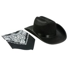Unisex Cowboy Hat and Bandana Set