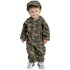 Jr. Camouflage Suit with Cap