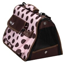 <strong>Pet Life</strong> Airline Approved Designer 'Polka-Dot' Pet Carrier