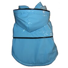 Fashion Dog Raincoat with Removable Hood in Light Blue