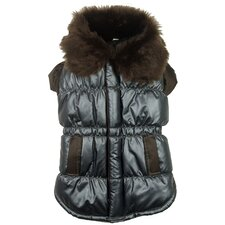 <strong>Pet Life</strong> Ultra Fur Collar Metallic Dog Jacket
