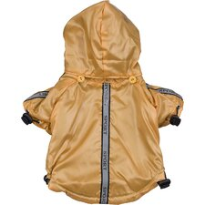 Reflecta Sport Dog Rainbreaker with Removable Hood in Musturd