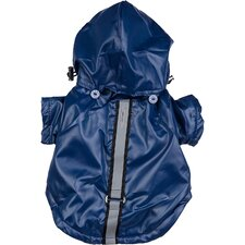 <strong>Pet Life</strong> All Weather Casual Dog Windbreaker with Removable Hood in Dark Blue