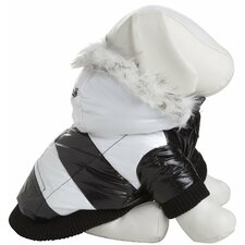 <strong>Pet Life</strong> Striped Fashion Dog Parka with Removeable Hood