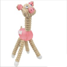 <strong>Pet Life</strong> Jute and Rope Giraffe Dog Toy