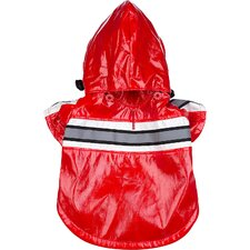 Reflecta Glow Dog Raincoat with Removable Hood in Red