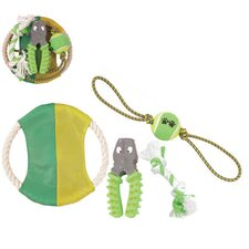 4 Piece Squeak Dog Toy Set
