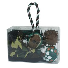 6 Piece Hunter Camouflage Themed Pet Toy Set
