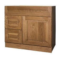 "Amalfi Series 36"" Red Oak Bathroom Vanity Base"