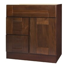 "Georgetown Series 30"" Chestnut Bathroom Vanity Base"