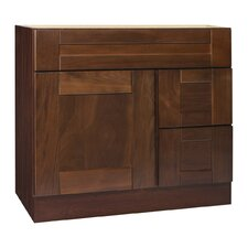 "Georgetown Series 36"" Black Walnut Bathroom Vanity Base"