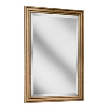 "Heritage Series 24"" x 33"" Maple Framed Mirror in Ginger Glaze Finish"