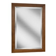 "San Remo Series 24"" x 33"" Black Walnut Framed Mirror in Chestnut Finish"