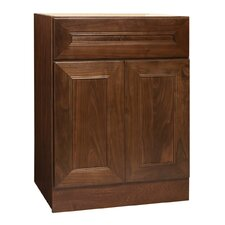 "San Remo Series 24"" Black Walnut Bathroom Vanity Base"