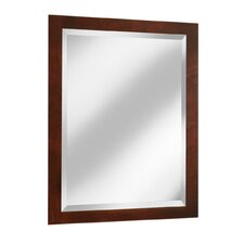 "Vintage Series 24"" x 33"" Maple Framed Mirror in Burgundy Finish"