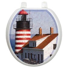 Themes West Quoddy Toilet Seat Decal