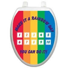 <strong>Toilet Tattoos</strong> Toilet Training Rainbow Toilet Seat Decal