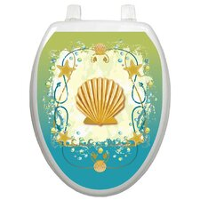 Themes Shell Game Toilet Seat Decal