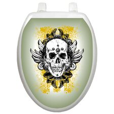 <strong>Toilet Tattoos</strong> Youth Skull Grunge Toilet Seat Decal