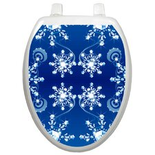 <strong>Toilet Tattoos</strong> Seasonal Snow Crystals Toilet Seat Decal