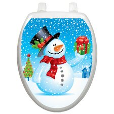<strong>Toilet Tattoos</strong> Holiday Snowman Toilet Seat Decal