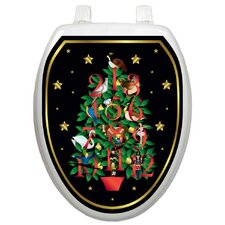 <strong>Toilet Tattoos</strong> Holiday Twelve Days Of Christmas Toilet Seat Decal