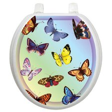 Themes Butterfly Dreams Toilet Seat Decal