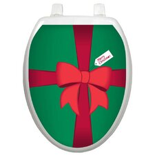 Holiday Christmas Gift Box Toilet Seat Decal