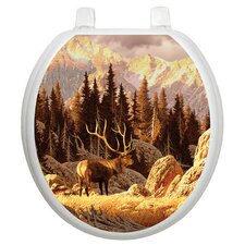Themes Elk Bull Toilet Seat Decal