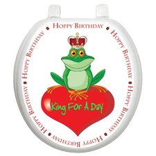 Whimiscal King For A Day Toilet Seat Decal