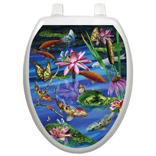 Themes Koi Fish Toilet Seat Decal