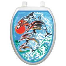 Themes Dolphins Toilet Seat Decal