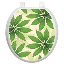 Themes Floating Leaves Toilet Seat Decal