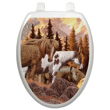 <strong>Toilet Tattoos</strong> Themes Wild Horses Toilet Seat Decal