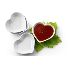 Heart Shaped Sauce / Dipping Dish (Set of 4)