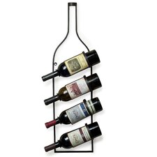 <strong>Danya B</strong> 4 Bottle Wall Mount Wine Rack