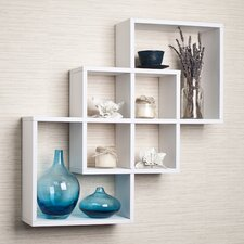 3 Intersecting Decorative Wall Shelf