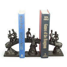 Children on a Tree Trunk Book End (Set of 3)