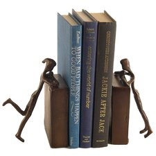 Children Peeking Book Ends (Set of 2)