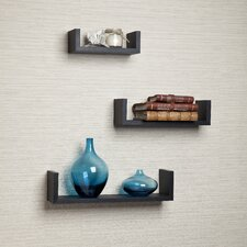 Floating 'U' Laminated Shelf (Set of 3)