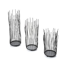 Willow Votive 3 Piece Candle Holder Set