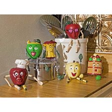 6 Piece Apple People Kitchen Figurine Set