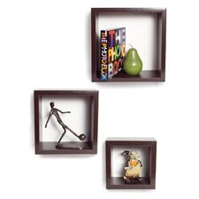 3 Pieces Nesting Square Shelf Set
