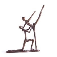 Ballet Dancing Couple Kneeling Figurine